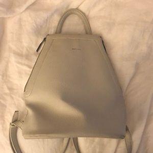matt & nat white vegan leather backpack